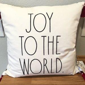 Rae Dunn Christmas JOY TO THE WORLD pillow